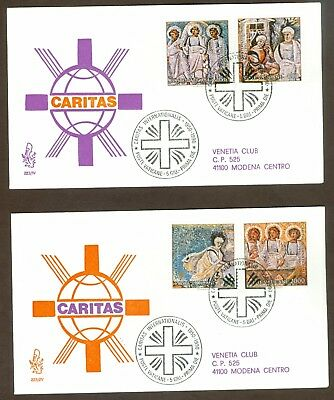 Vatican City Sc# 853-6, Caritas International on 2 First Day Covers
