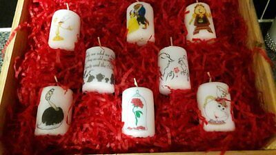 beauty and the beast  votive candle set
