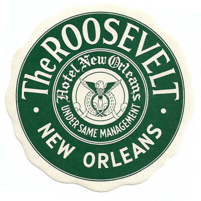 The Roosevelt New Orleans (LOUISIANA) Original Antique Vintage Luggage Label