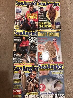 6 Sea Angler Magazine Back Issues