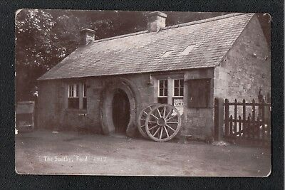 L@@K  The Smithy ( Blacksmith ) Ford ~ Monarch Johnston Series 1900's? Postcard