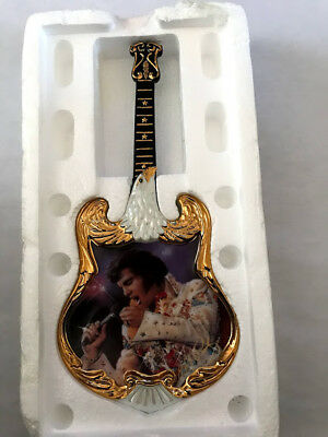 Elvis Guitar Shaped Ent of the Century Plate. Aloha from Hawaii - 1st plate 1973