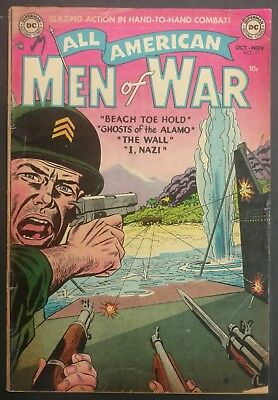 All-American Men Of War #7 1953 Solid G/vg  4 Great Stories Gene,colan !!
