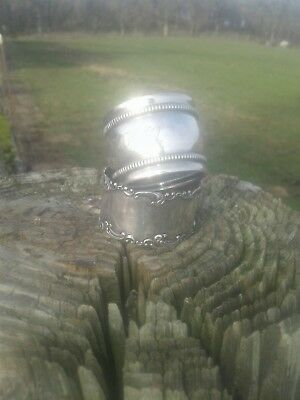 24 HOUR AUCTION!!! Two SCRAP STERLING SILVER napkin rings 26g
