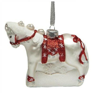 The Trail of Painted Ponies Blown Glass Pony Christmas Ornament