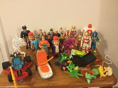 1980s Vintage Ghostbuster Figure Lot of 20 w/ Vehicles, Ghosts, Accessories, etc