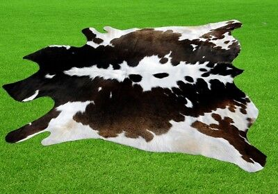 "New Cowhide Rugs Area Cow Skin Leather 19.06 sq.feet (56""x49"") Cow hide MB-13"