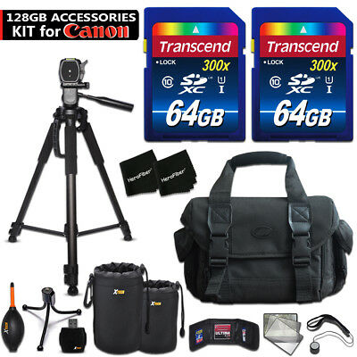 128GB ACCESSORIES Kit for Canon EOS 80D w/ 128GB Memory + CASE + MORE