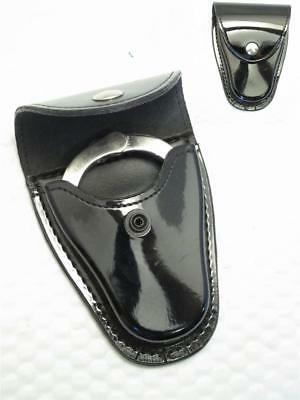 H70 CS GLOSS BLACK G&G Police Teardrop Patent Leather Case for CHAIN Handcuffs