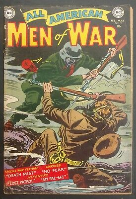 All-American Men Of War #9 1954 Solid Vg-- 4  Stories Gene,colan,andru,novick