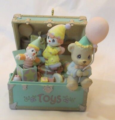 Precious Moments Holiday Expressions 1992 My Favorite Things Toy Box Ornament