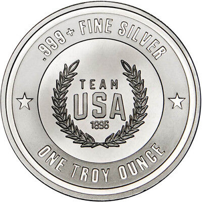 USA Olympic Team 1 oz .999 Silver BU Round Very Limited American Made Coin