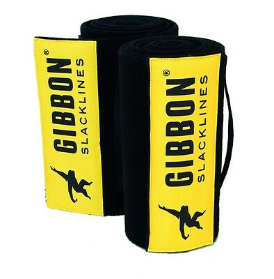 Gibbon ALBERO WEAR XL Slackline Accessorio, 200 x 25 cm, Nero/Giallo
