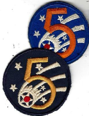 WW2 patches, 2 for 5th Air Force.Nice Australian made 5th & also US made 5th.