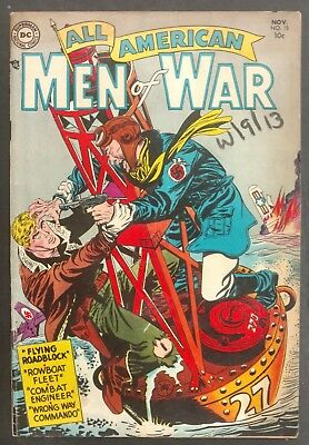 All-American Men Of War #15 1954 Nice Vg/fn 4 Great Stories Grandenetti Cover