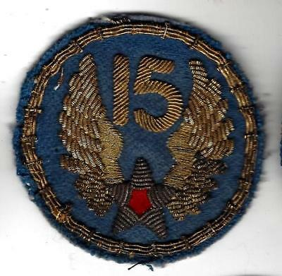 WW2 15th Air Force patch, Bullion, Italian Hand-made gem. Awesome details