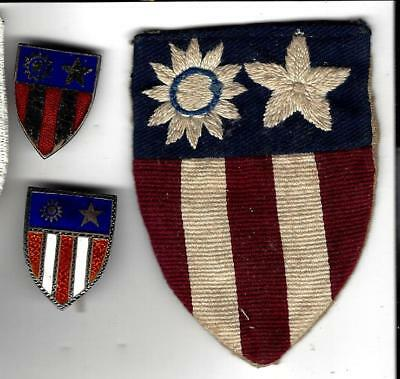 WW2 CBI lot. Theatre made CBI patch and 2(two) theatre md DIs. Real ones.