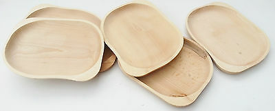 "Wooden plate set of four ,11,5""  rectangle shaped beechwood serving tray , board"