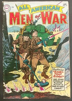 All-American Men Of War #17 1955 Nice Vg 4 Stories 1St Frogman Grandenetti Cover