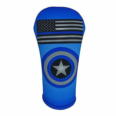 Thin Blue Line Flag Golf Club Head Cover Collection (Sold Separately)  USA MADE!