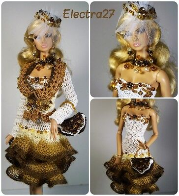 OOAK Outfit for Fashion Royalty FR2 Color Infusion Nu Face Poppy Barbie doll 12""