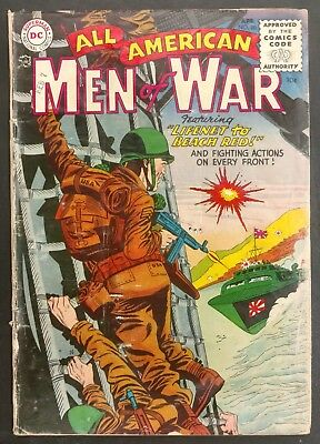 All-American Men Of War #20 1955 Gd/gd+ Not Fragile Kubert Heath 4 Stories!