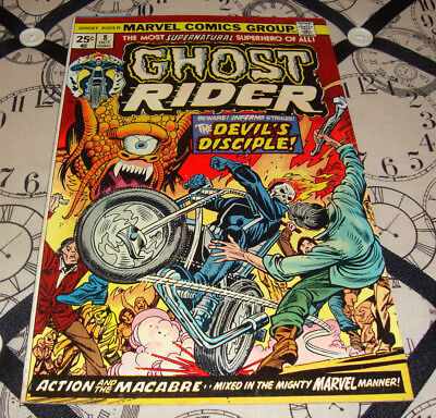 Ghost Rider #8 (Oct 1974) Bronze Age Marvel Comic FN Condition
