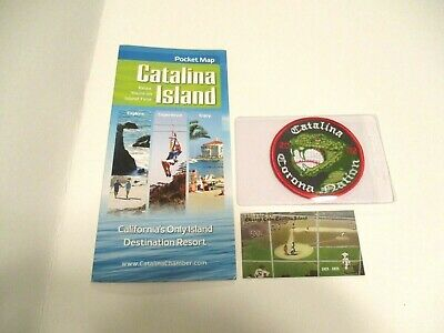 Catalina Island Chicago Cubs Tiles Magnet & Brochure +  Free Patch #921