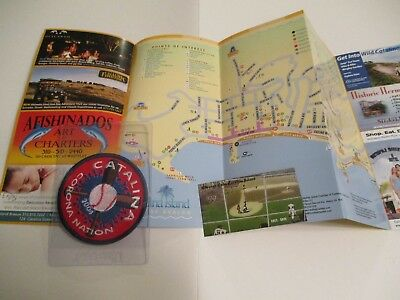 Catalina Island Chicago Cubs Tiles Magnet & Brochure +  Free Unique Patch #923