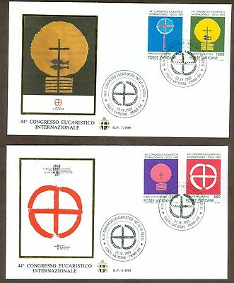 Vatican City Sc# 838-41, Eucharistic Congress, Seoul on 2 First Day Covers