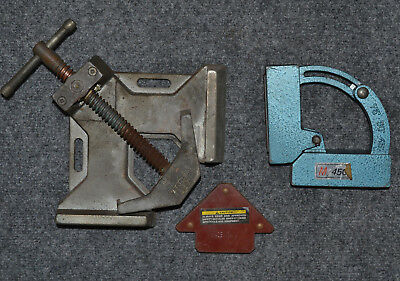 LOT Set of Welding Fabrication Clamps Magnetic Holders TOOLS chassis pipefitting