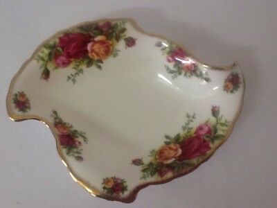 Royal Albert Old Country Roses Autumn Leaf Dish /1st Quality / England