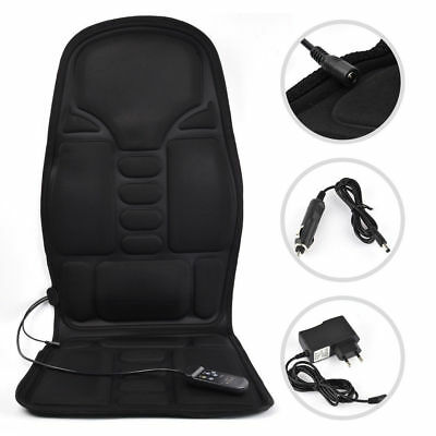 Electric Vibration Car Seat Cushion Massager Heat Cover Pad Car Chair Shaking
