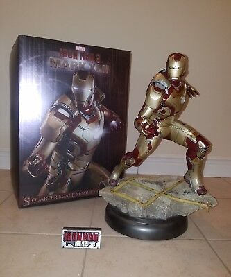 Iron Man Mark 42 Quarter Scale Maquette Statue Sideshow MARVEL SAMPLE (Avengers)