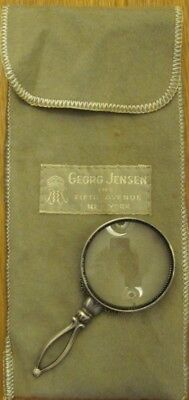 Rare Georg Jensen STERLING SILVER Magnifying Glass - Antique