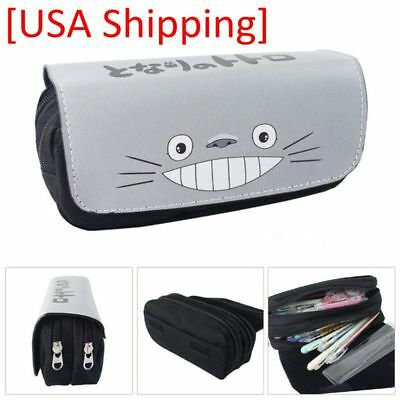 New Studio Ghibli My Neighbor Totoro Student Pencil Case Stationery Pen Box Bag