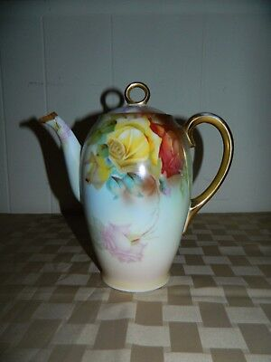 Sevres Pitcher, Coffee Pot Marechel Niels Bavaria Hand Painted Porcelain