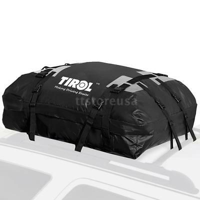 15 Cubic ft Car SUV Rooftop Cargo Roof Top Carrier Bag Rack Storage Luggage G6N0