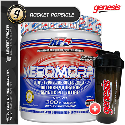 Mesomorph APS *25 Serve Rocket Popsicle* Extreme Energy Pre Workout + Free Gift!