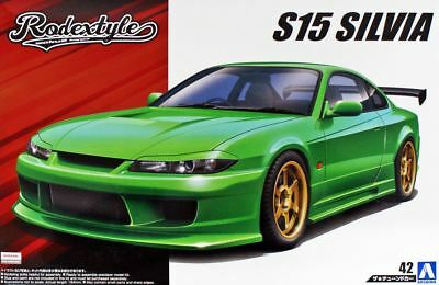 Aoshima 1/24 Scale The Tuned Car(42)Model Kit Rodextyle Nissan Silvia S15 Spec R