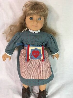 VTG American Girl Doll Kirsten Pleasant Company 1986 Dress Clothes Shoes Apron