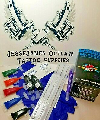 Poke And You Stick Self Tattoo  Diy  Kit Dynamic Black Ink And Color Choice