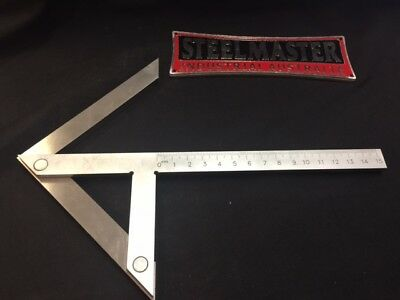 Centering Square - 150mm - Stainless Steel & Metric Calibrations.
