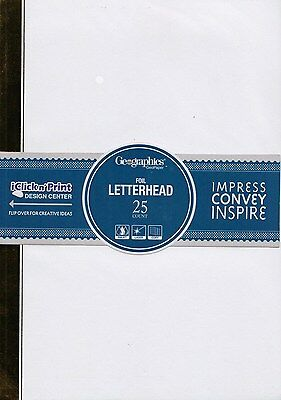 Geographics A4 Computer Letterhead Paper  25 Sheet Century Gold **44404**