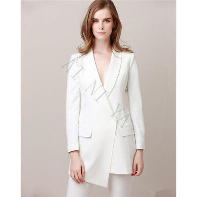 8f807bae3fdf96 Ivory Double Breasted Women Office Uniform Style Blouses Female Business  Suit