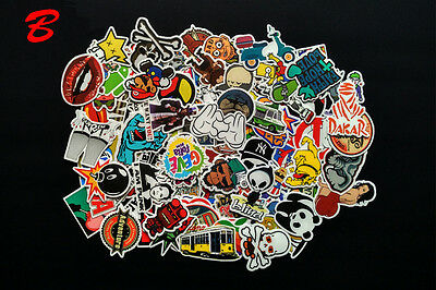 Sticker Bomb Graffiti Vinyl For Car Skate Skateboard Laptop Luggage Decal 100pcs