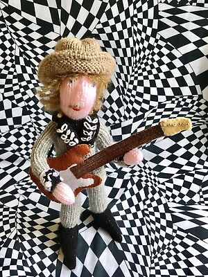Bob Dylan Large Jack Fate Hand Knitted Limited Edition Doll