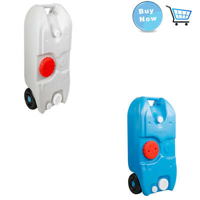 40L Portable Wheel Water Tank Durable Material with Smart Design Blue/Grey