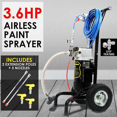 Airless Paint Sprayer Spray Gun Painting Machine 3 Nozzles 3.6 HP/4000 PSI DIY