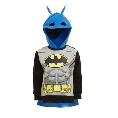 Licensed Batman Kids Hoodie with Mask & Cape - BNWT - SIZE 4